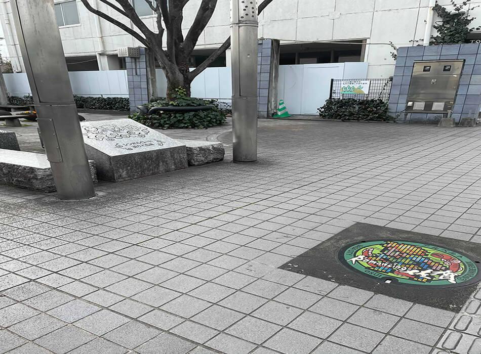 ロマ佐賀マンホール_設置場所